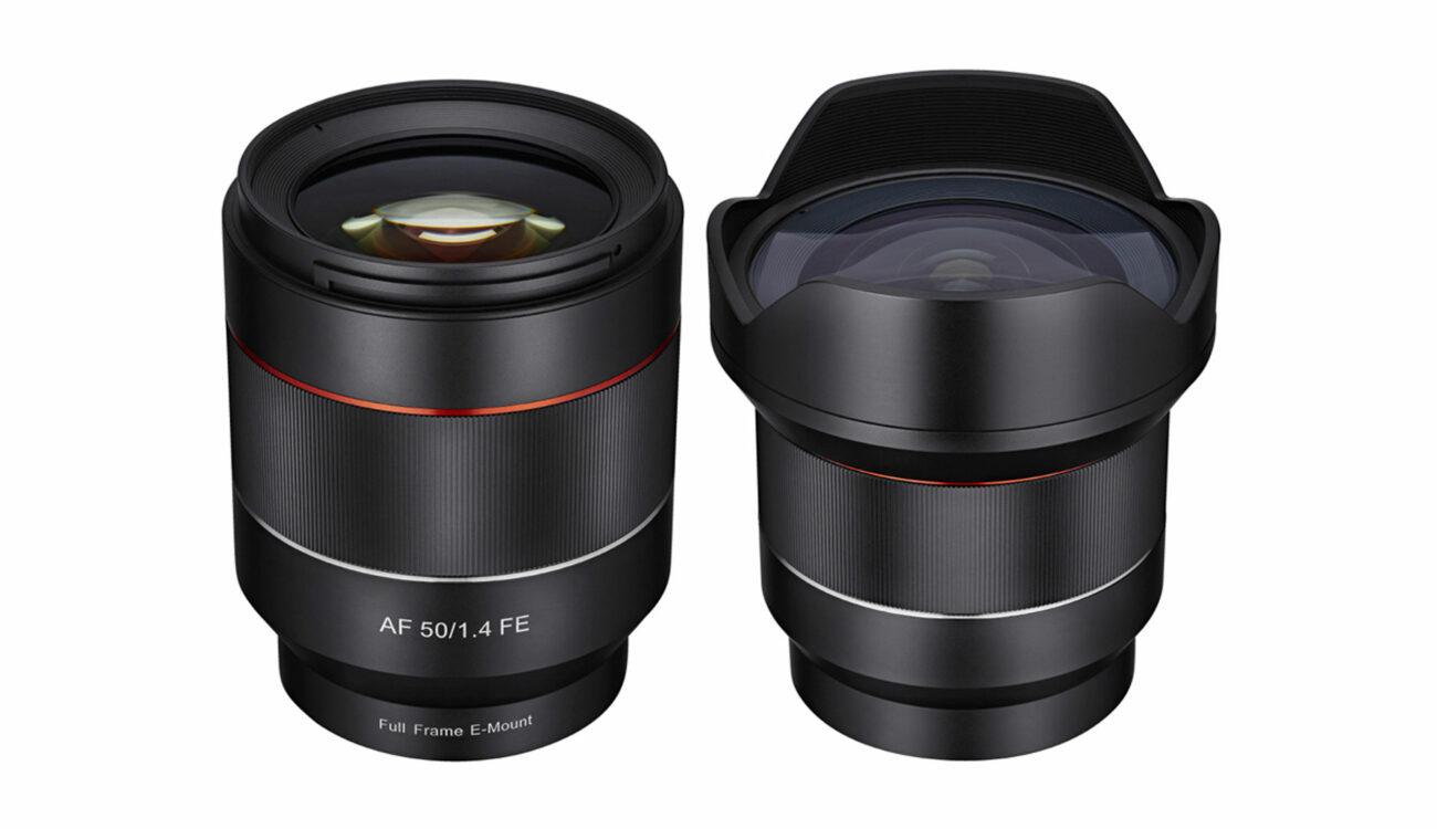 New Samyang Autofocus 14mm and 50mm Lenses For Sony E-Mount