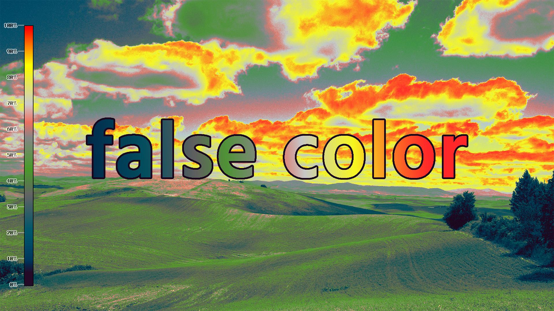 false color