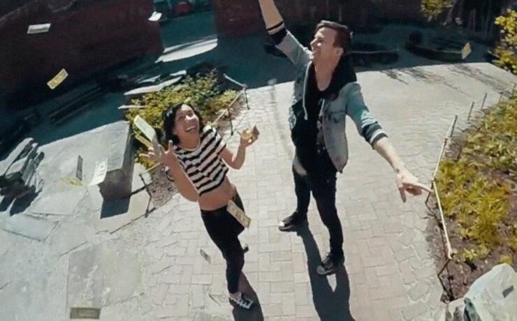DIY Centriphone Technique Glues us to the Screen in Matt & Kim Music Video