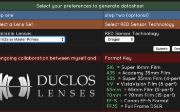 PHFX LensData for RED Users - Matches Lens Types with Sensors