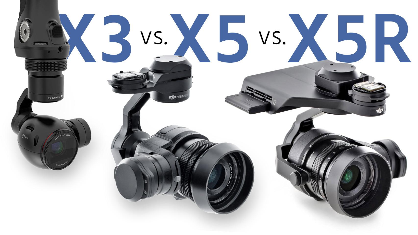 DJI Inspire 1 vs. Inspire 1 PRO vs. Inspire 1 RAW - DJIの3モデル比較