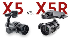 DJI Zenmuse X5 vs. X5R
