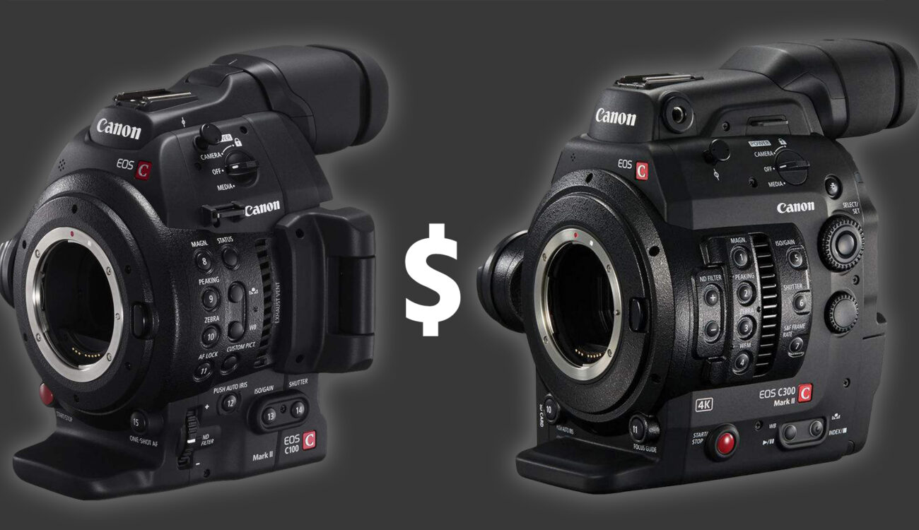 $4000 Canon C300 Mark II Price Drop, $1,500 off C100 Mark II