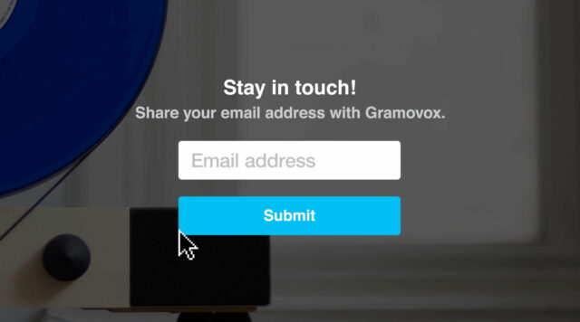 Nice new feature: ask your audience for their email addresses.