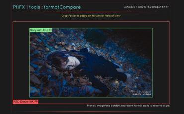 PHFX formatCompare - Sensor Crop Calculator