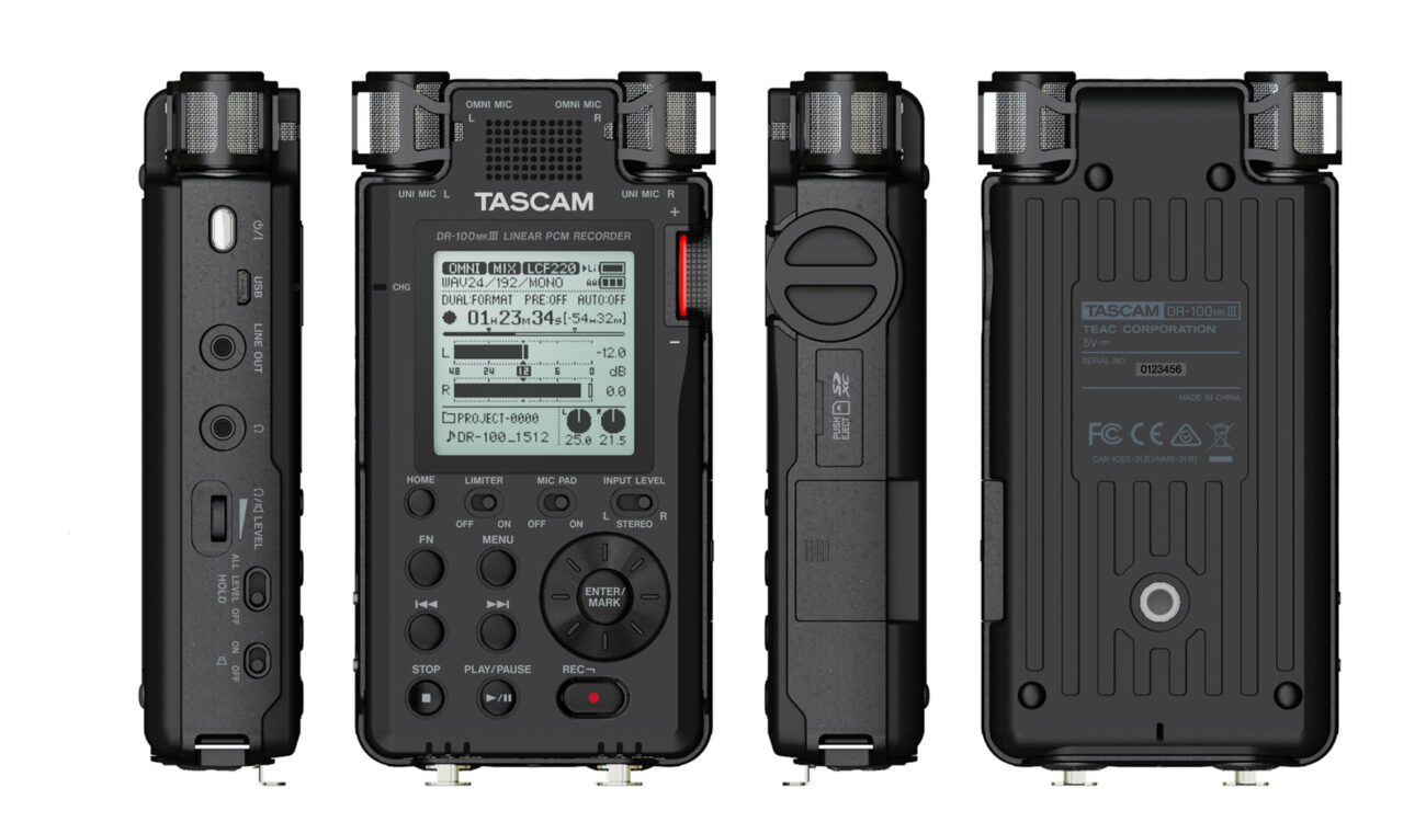 Tascam DR-100 Mk III Linear PCM Recorder Released