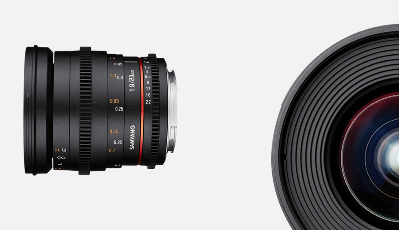 New Samyang 20mm Full Frame Lens Announced