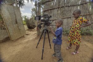 Kids play with Canon C300 Rig - Pic: Benji Lanpher