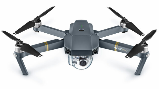 DJI Mavic Drone unfolded - front