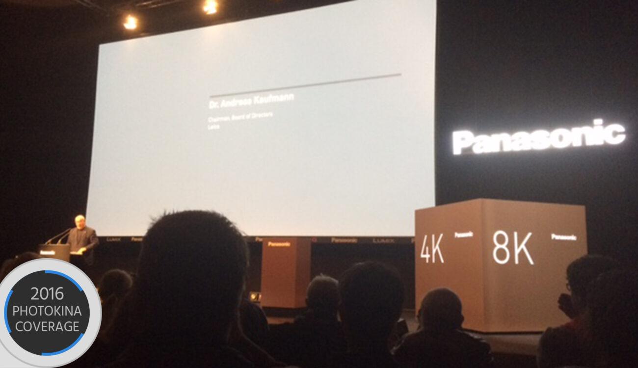 LIVE: Panasonic Press Conference Kicks Off Photokina 2016