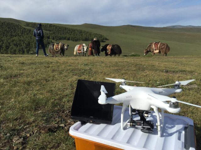 DJI Phantom 2 in Mongolia. Picture Credit: Graham Sheldon