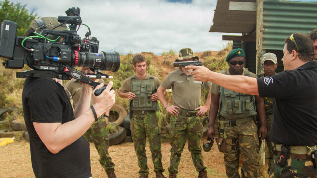 Director of Photography Nino Leitner using the ZEISS LWZ.3 on the shoot in South Africa