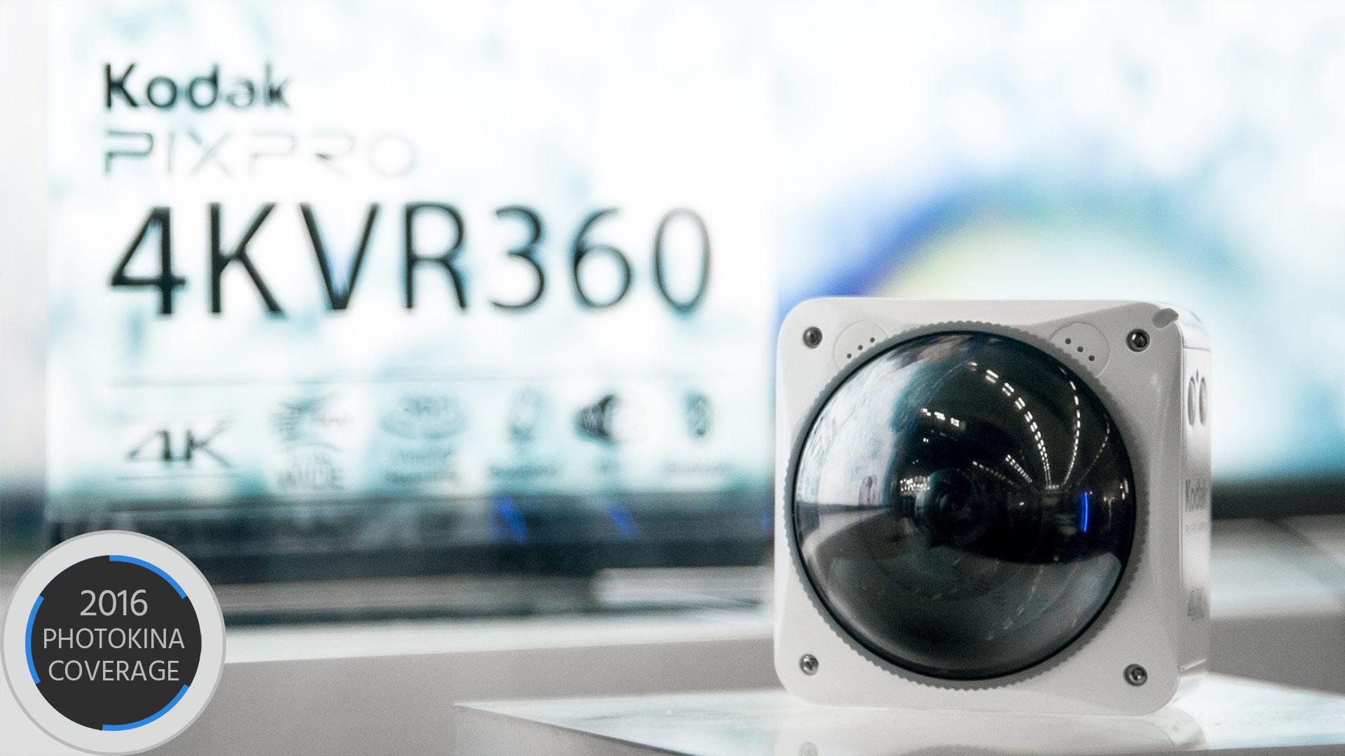 コダック PixPro 4KVR360 を参考出品- 3モードで使える4K全天球アクションカメラ