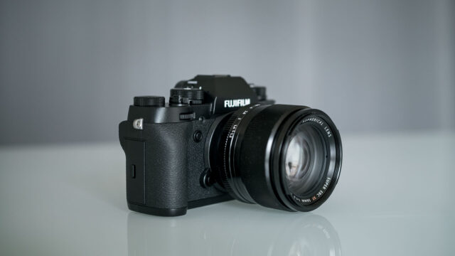 Fujifilm X-T2 camera body with 56mm Fuji lens