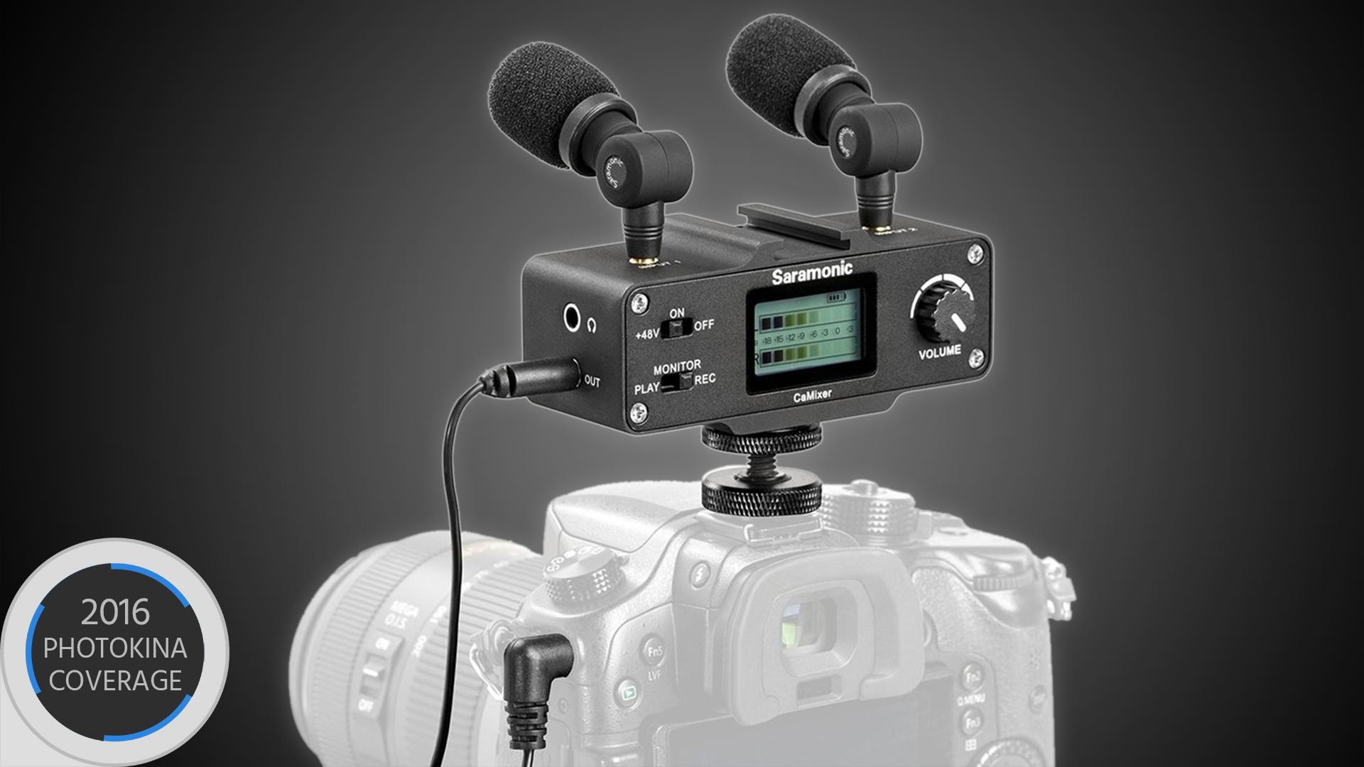Saramonic CaMixer — ヘッドフォンジャックの無いカメラ用小型マイクミキサー