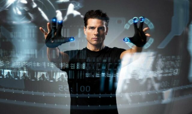 Invisible screen - Minority Report © 20th Century Fox / Dreamworks Pictures.