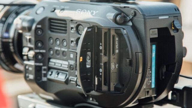 Sony FS7 II XQD card slots