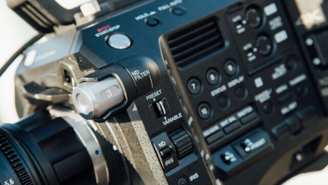 Sony FS7 II hands-on electronic Vari ND