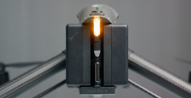 DJI inspire 2 Review - dual batteries
