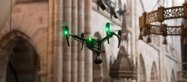 DJI Inspire 2 review - flying in the church