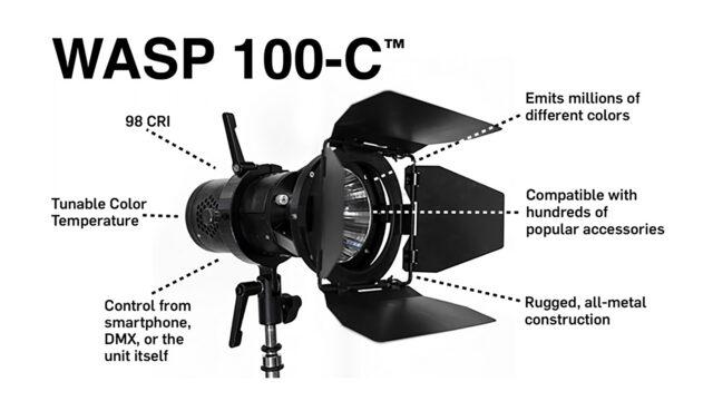 wasp-100-c LED light