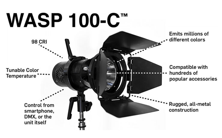 Hive Lighting WASP 100-C - 100w LED Omni-Colour Light Now on Kickstarter