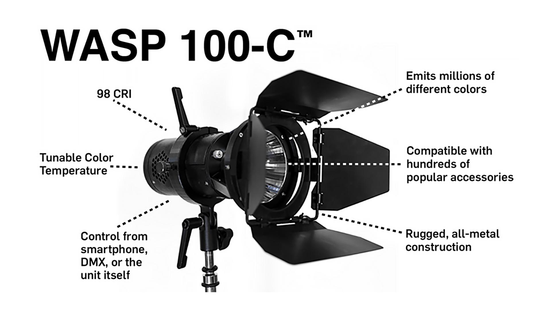 Hive WASP 100-Cがキックスターターに登場 - 100W LED Omni Colorライト