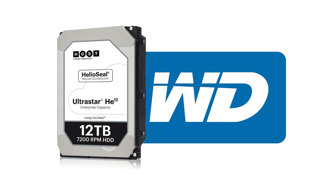 Western Digitalが12TBと14TBのHDDを発表
