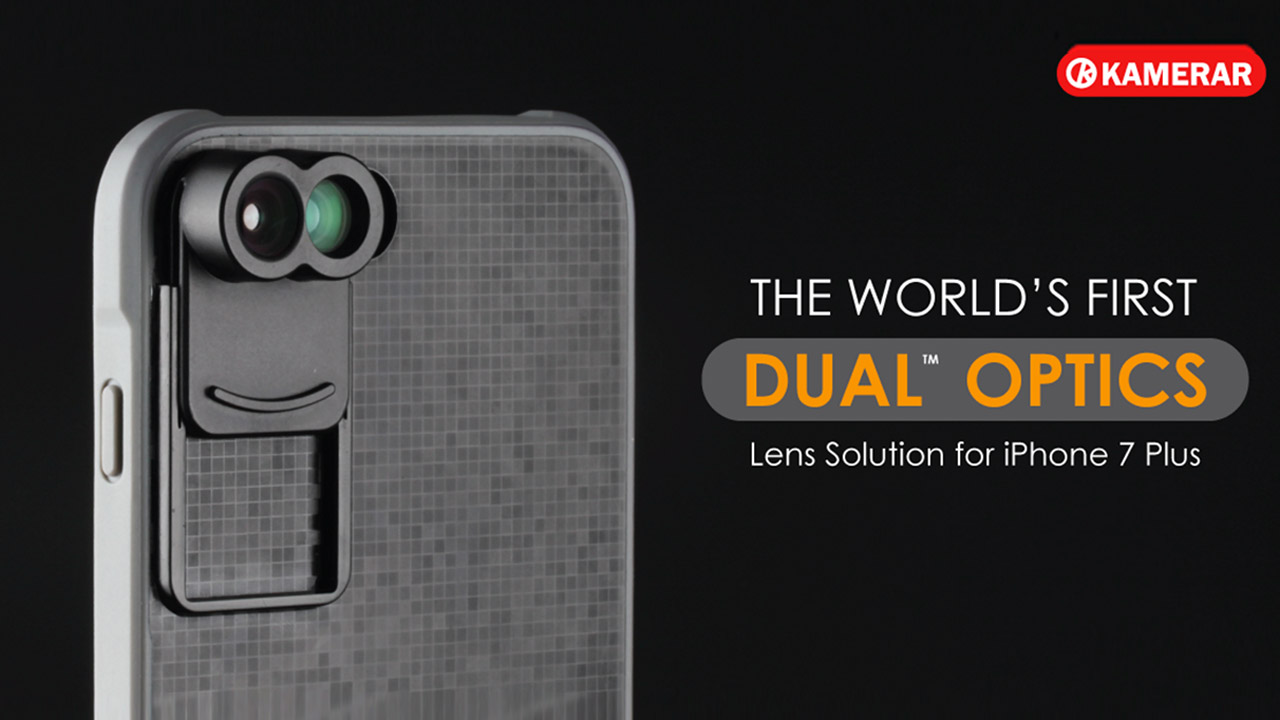The Kamerar ZOOM Lens Kit - a Removable Dual-Lens System for the iPhone 7 Plus