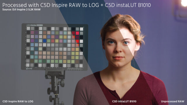 Convert Inspire 2 Raw preview - RAW to LOG samples
