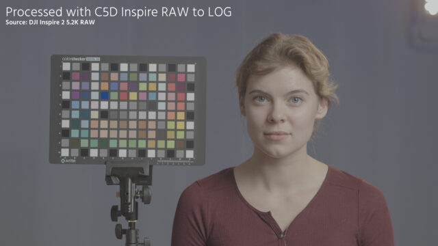 Convert Inspire 2 Raw preview - RAW to LOG flat gamma