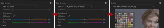 Applying the D-LOG LUT in Premiere Pro CC