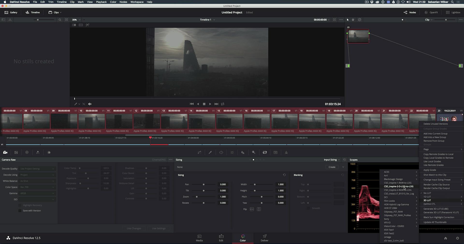 Convert Inspire 2 Raw Files & Grade D-Log - Mastering Drone