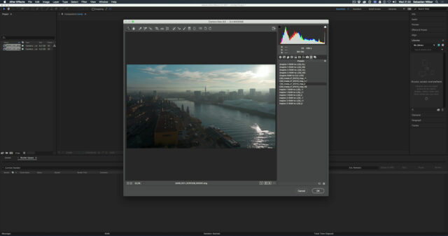Convert Inspire 2 Raw to Log in After Effects using the presets