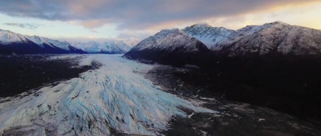 Shooting with a drone in cold environments - Phantom 4 aerial shot