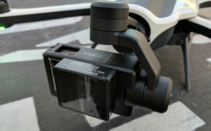 GoPro Karma Drone Anamorphic Capability With Letus Adapter Lens