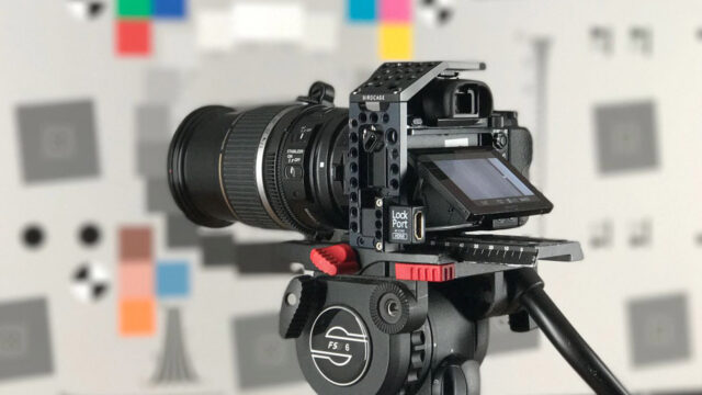 Canon EF-S 17-55mm photo lens in the test lab