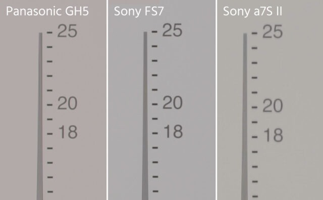 Panasonic GH5 Vertical Aliasing