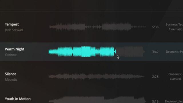 Music Vine Waveform Feature