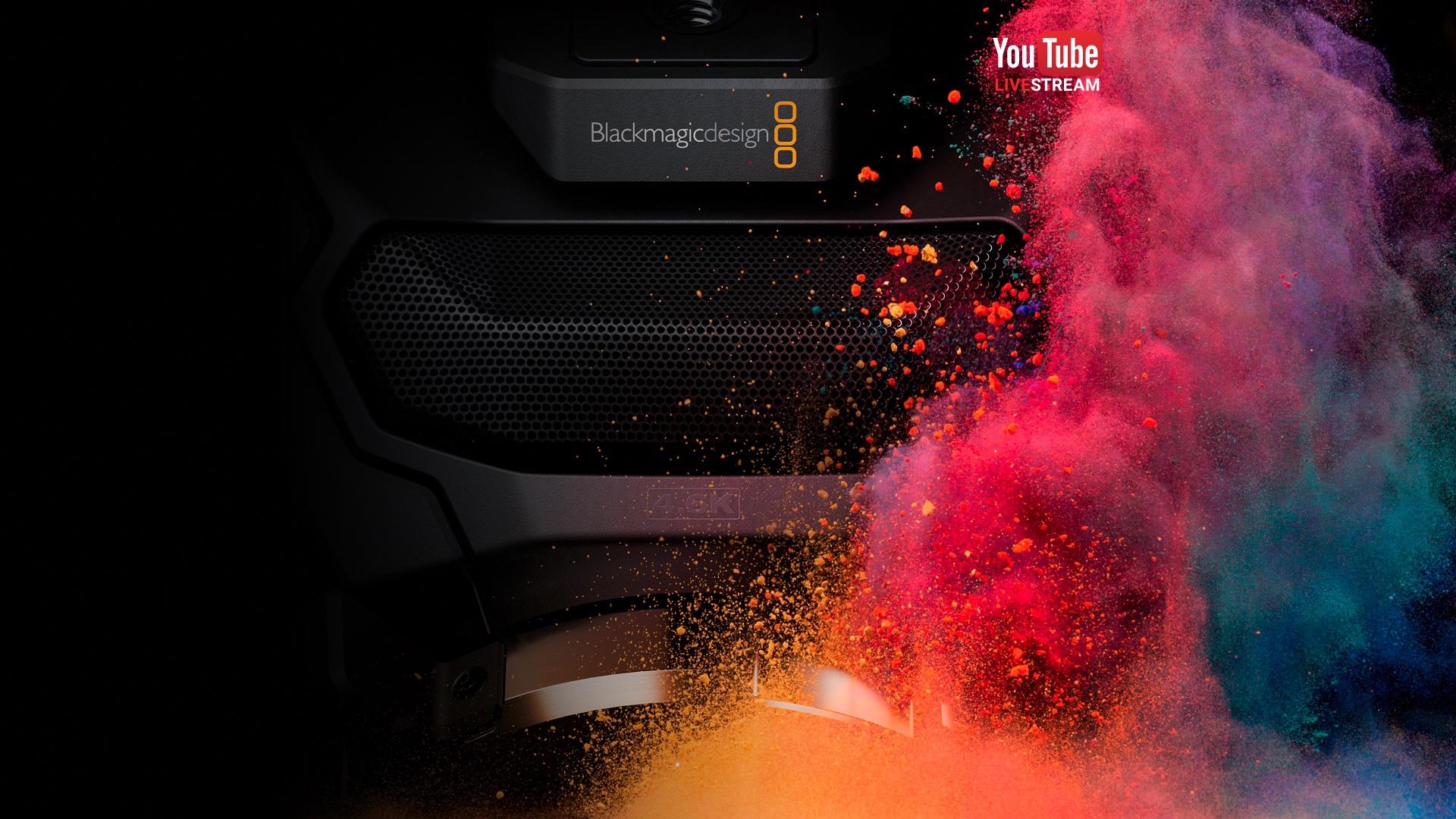 """Live Stream Shooting Wallpaper: Blackmagic Live Stream """"Camera And DaVinci Resolve"""" Press"""