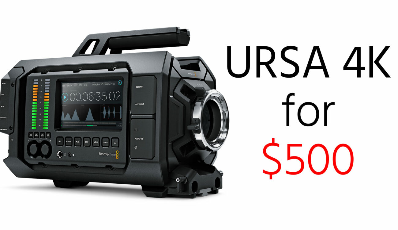 UPDATED - DEAL ALERT: Blackmagic URSA 4K for just $500 when you buy the URSA Mini Pro