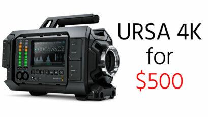 UPDATED - DEAL ALERT: Blackmagic URSA 4K for just $500 when you buy the URSA Mini Pro