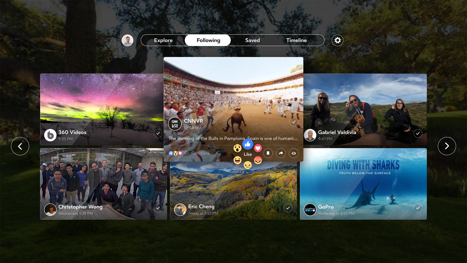 FacebookがサムソンのGear VR用アプリFacebook360を開発