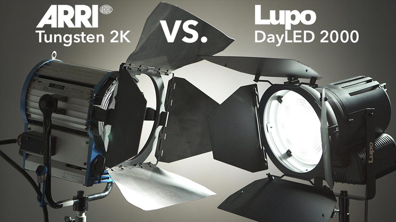 Lupo DayLED 2000 Fresnel vs. Arri 2K Fresnel