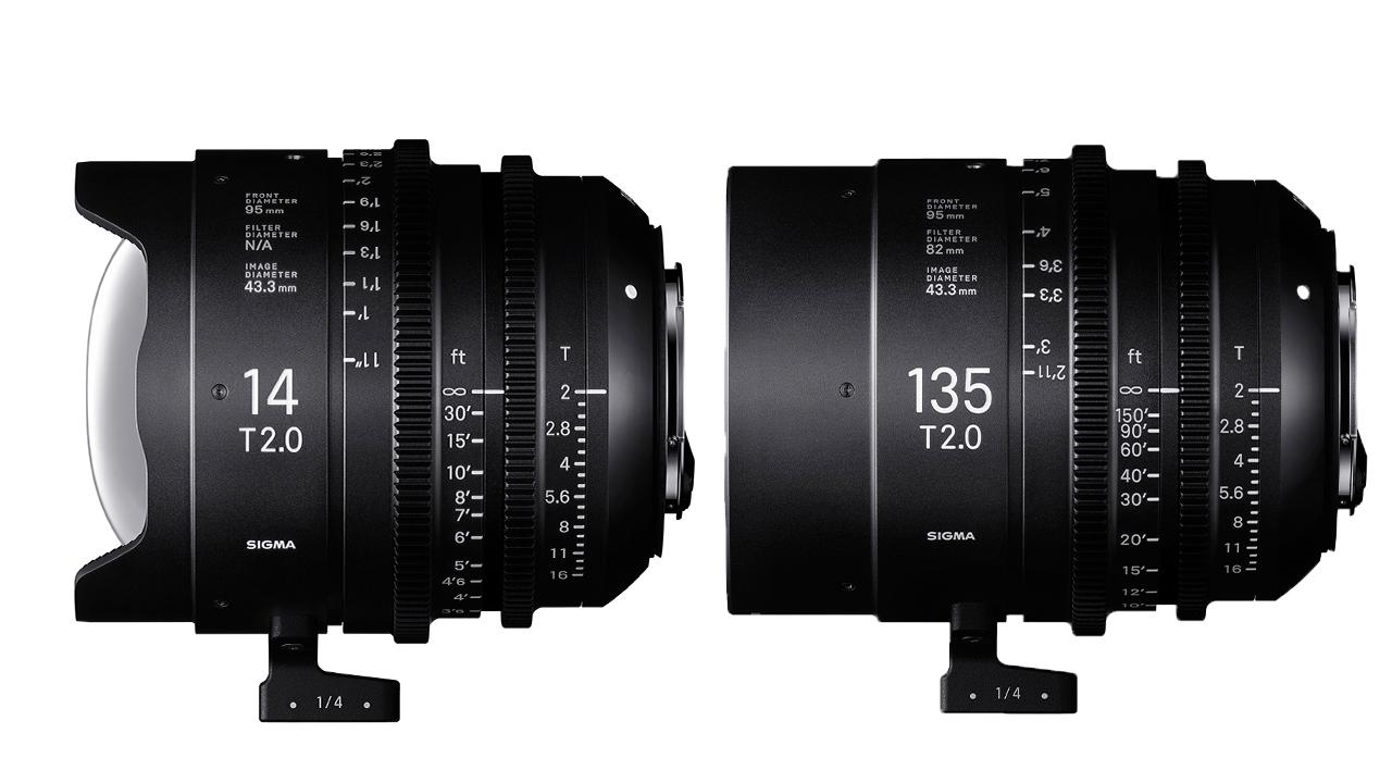 シグマが14mmと135mm T2 FF プライムシネマレンズを発表
