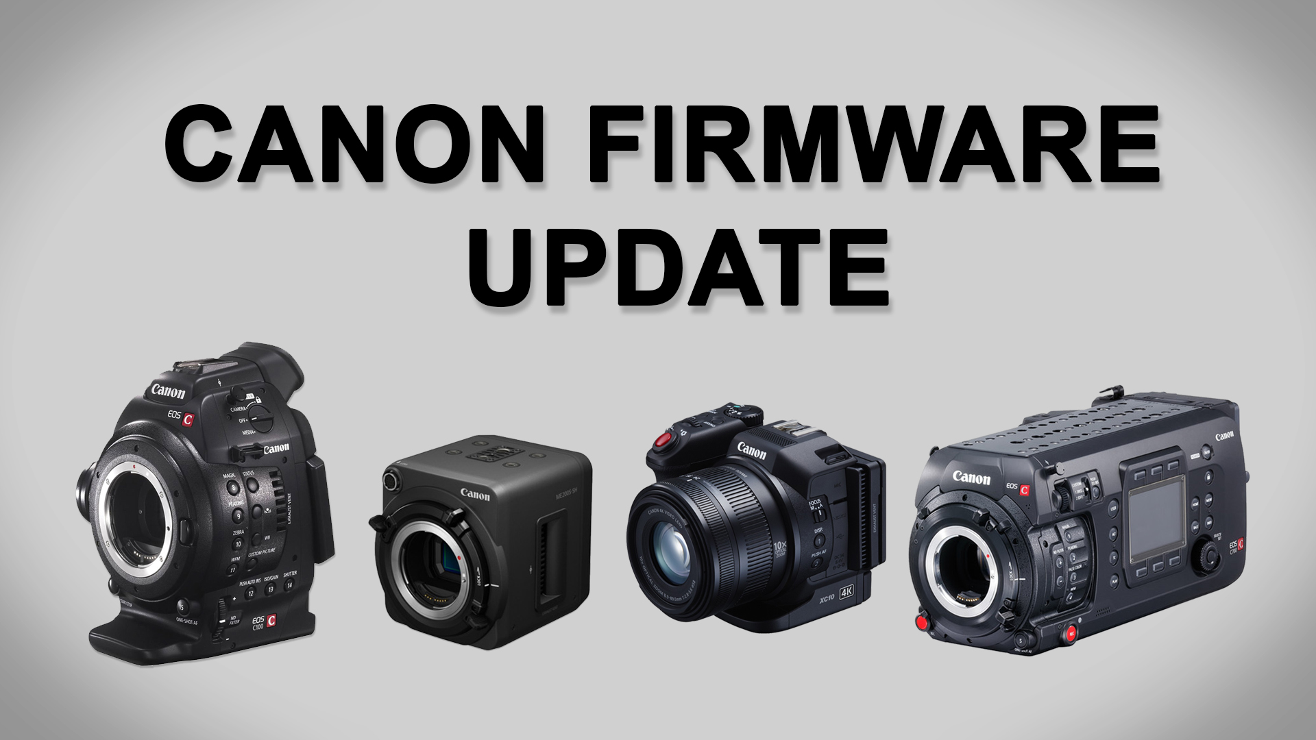 キヤノンがCinemaEOSとXCシリーズのファームウエアアップデートをリリース