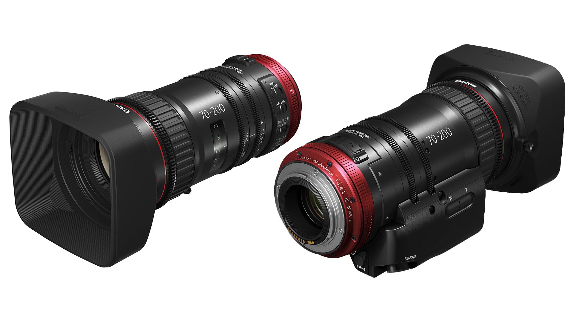 キヤノンCN-E 70-200mm T4.4を発表