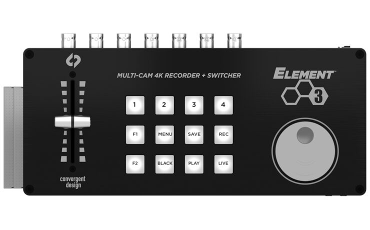 Convergent Design Element Series - Compact Recorder/Switcher With Hardware Interface