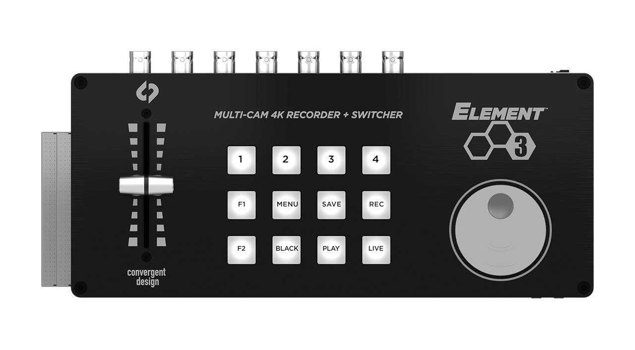 Convergent Design Elementシリーズ - ハードウエアインターフェースを持つコンパクトレコーダー/スイッチャー