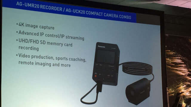 Panasonic POVCAM and AG-UMR20 Portable Recorder Unveiled